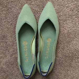 Rothy's Mint Points Size 9